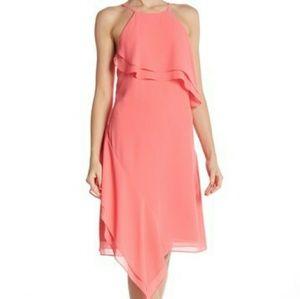 Nanette Asymmetrical Layered Ruffle Dress NWOT